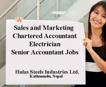 Sales Manager, Accountant , Marketing Executives  wanted in Hulas Steels Industries Pvt.ltd.